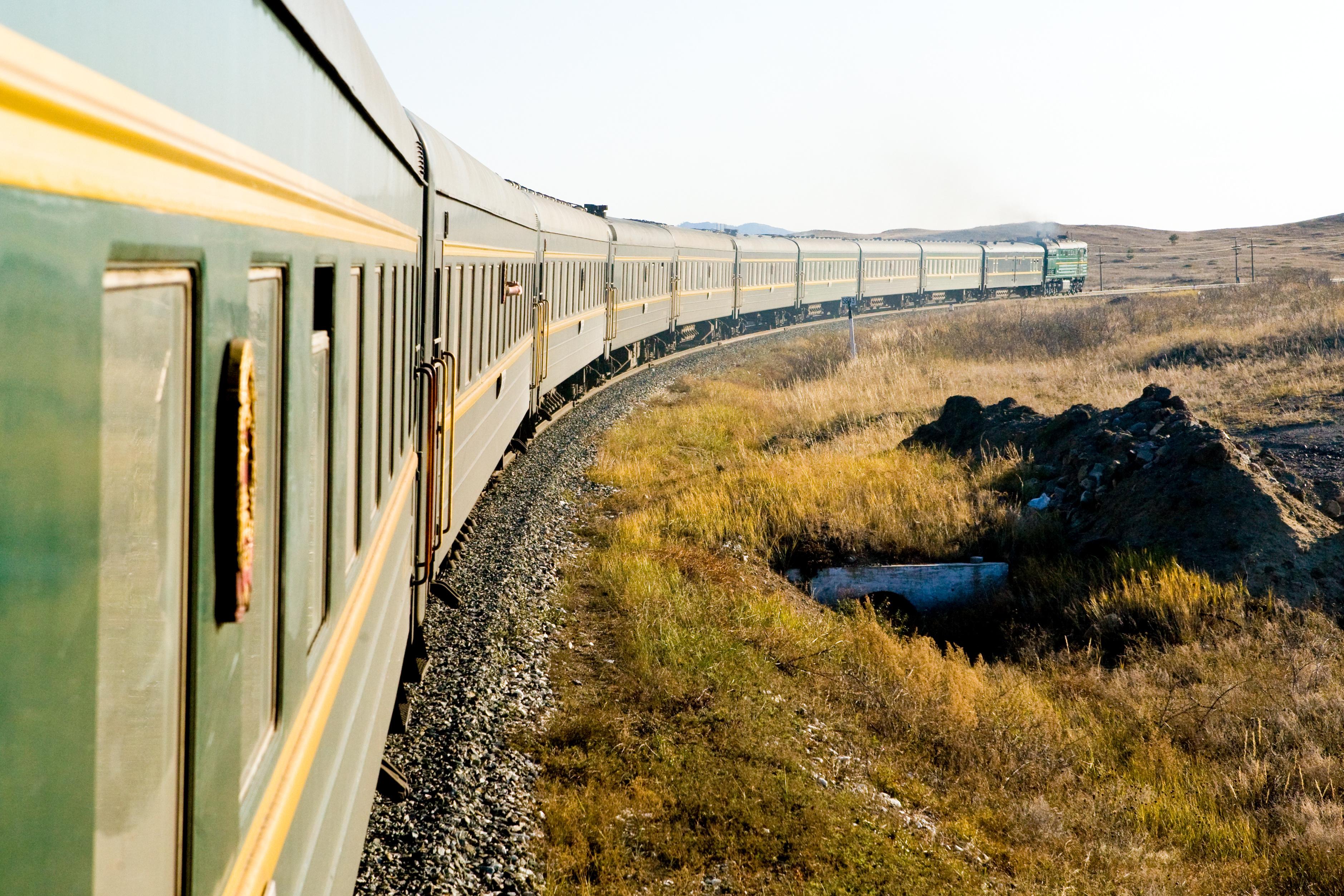 En train à travers la Russie soviétique
