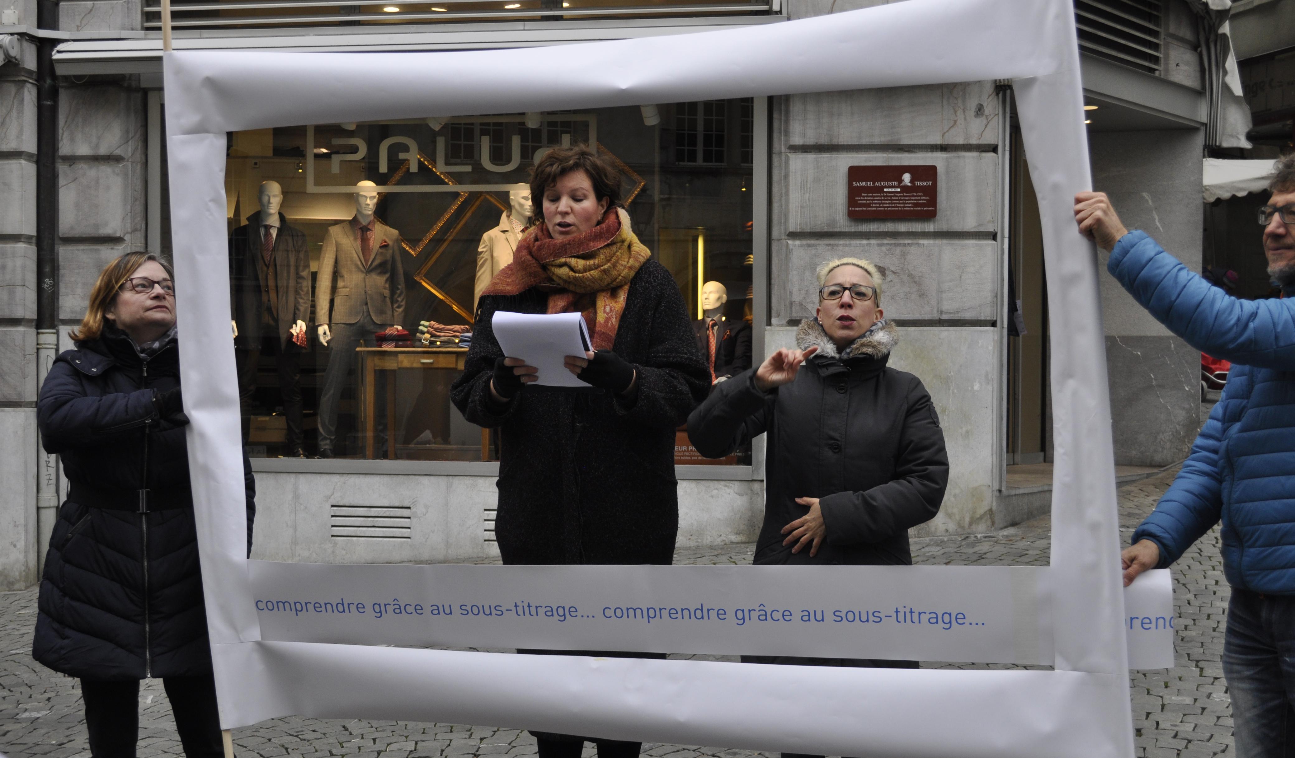 Les sourds sont descendus dans la rue pour dire NON à No Billag!