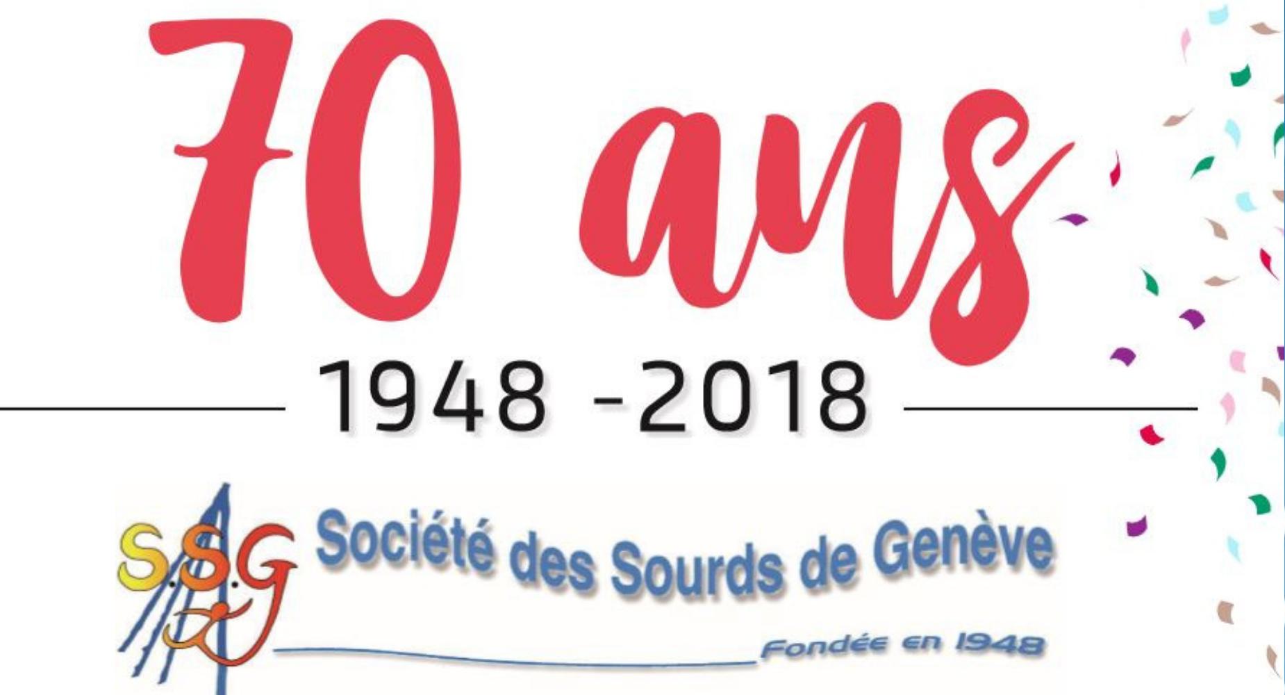 Soirée des 70 ans de la Société des sourds de Genève