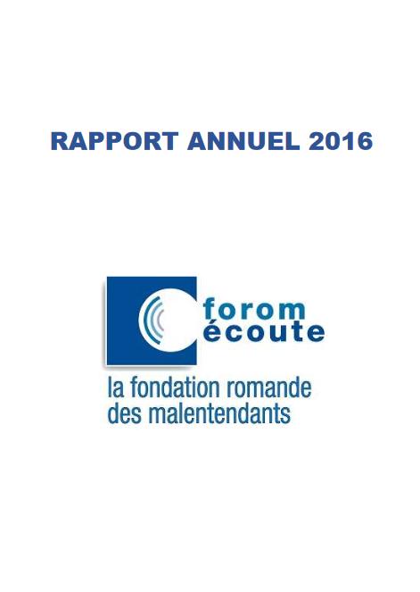 Rapport annuel de l'année 2016