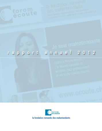 Rapport annuel de l'année 2012