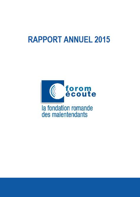 Rapport annuel de l'année 2015
