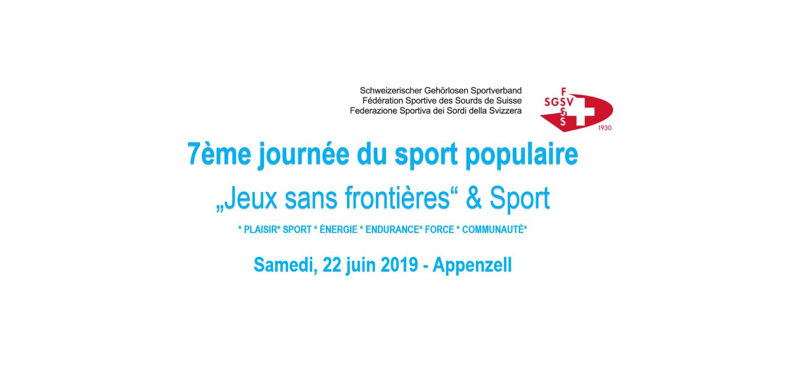 7éme journée du sport populair - FSSS
