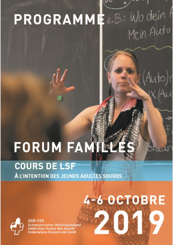 Forum Familles - cours de LSF à l'intention des jeunes adultes sourds