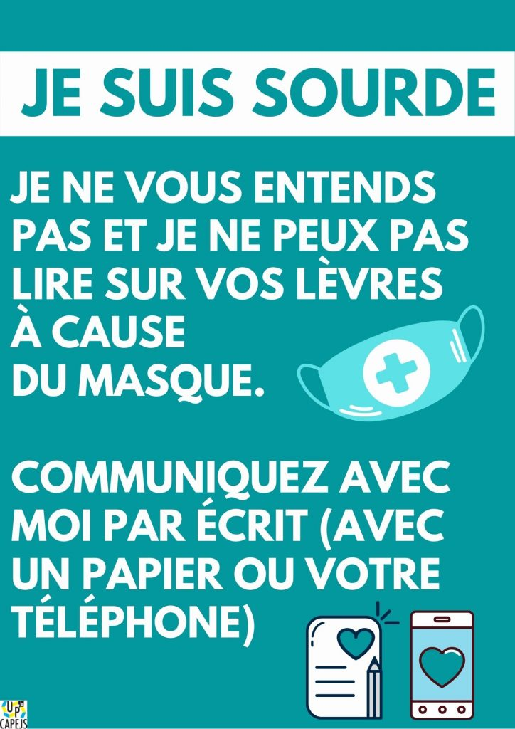Association UP' CAPEJS - Flyers pour aider la communication pendant la crise de la Covid-19
