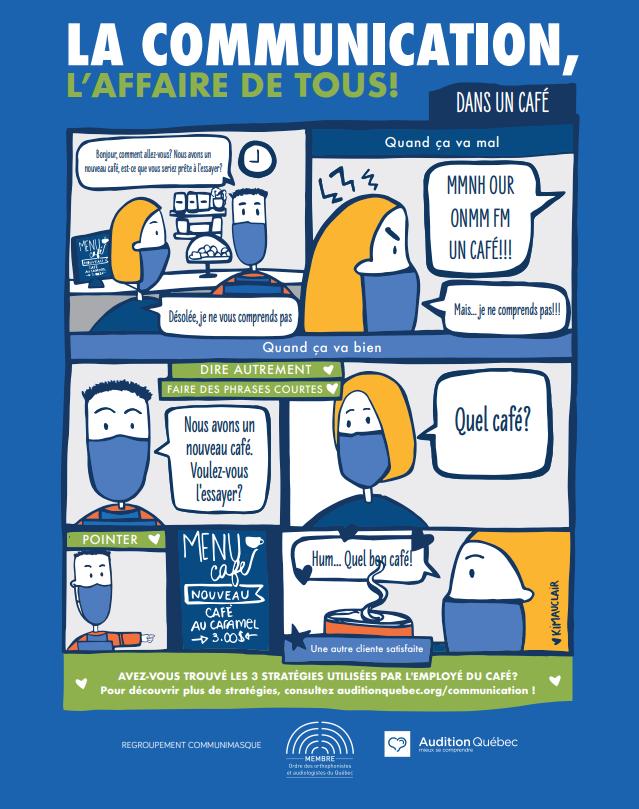 La communication, l'affaire de tous! Des outils par Audition Québec.