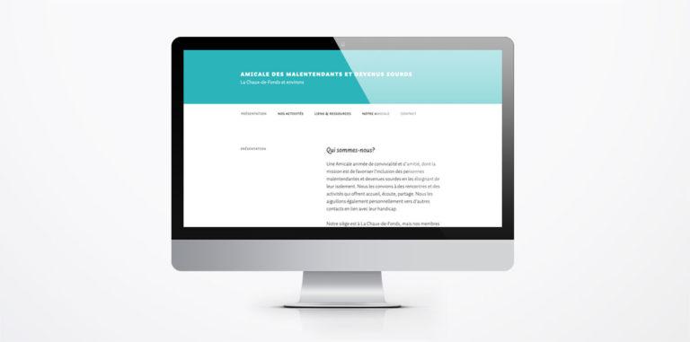 Le nouveau site de l'Amicale des Malentendants et Devenus Sourds de la Chaux-de-Fonds et Environs